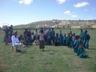 Ethiopia West Showa Kumeshie with Students