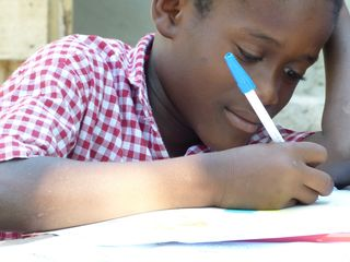 Borguedy-7 years old-writing back to his sponsor