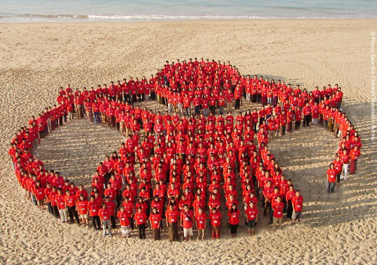 Save the Children staff photo is of a unified Myanmar / Burma office.