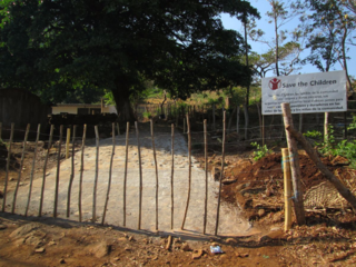School fence built as a result of a brigade project in 2014