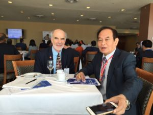 Vice President of SC US Global Health, Robert Clay, meets with Myanmar's Minister of Health, Dr. Myint Htwe on June 10, 2016 during the High Level Meeting on Ending AIDS.