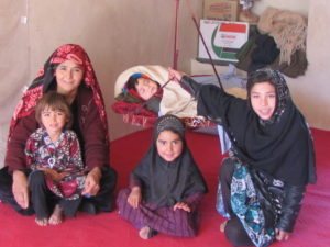 Nazdana, her mother and younger siblings