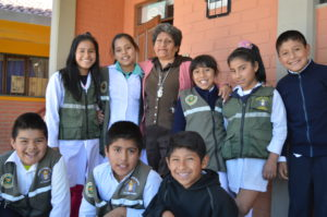 Justa with her students, Rosmery, Sindel, Teresa, Maria, Cristian, Luciano, Brayan & Roberto.