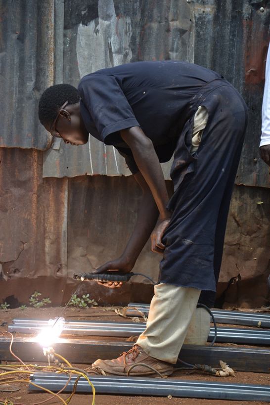 Akazi Kanoze is a USAID-supported project that includes strong partnerships with the Rwandan private sector to develop marketable skills for youth including welding.