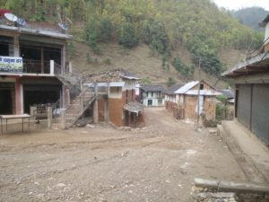 A typical road in Pyuthan.