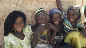 Smiling Sponsorship kids Djamila, Farida, Aicha & Maimouna.