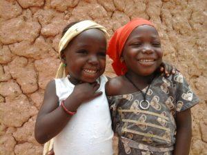 Smiling Zahaina & Sailouba, girls in our Sponsorship programs in Maradi.