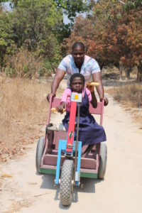 Sponsorship staff member Kelvin and Celine take a stroll.