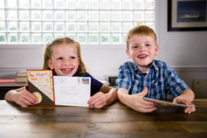 Simon and Miriam wrote letters to Save the Children, thanking them for their work with refugee children.