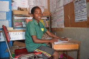 Tiyende! radio programs helped Rodrick be better prepared for primary school