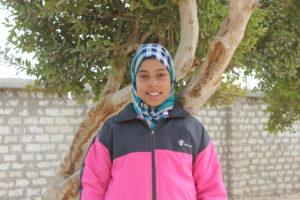 Aida, youth leader and champion of girls' rights.