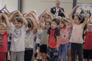 Students from Fayetteville's Butterfield Elementary School participate in a Prep Rally. Photo by Bob Coleman.
