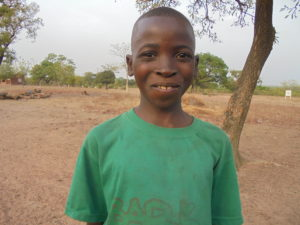 Thanks to sponsorship, today 11-year-old Oumar is back at school.