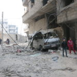 Destruction caused by arial shelling in Eastern Ghouta, 25th February 2018.